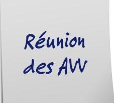 Réunion des AVV