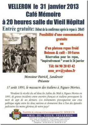 Café Mémoire Les Italiens 31.01.2013