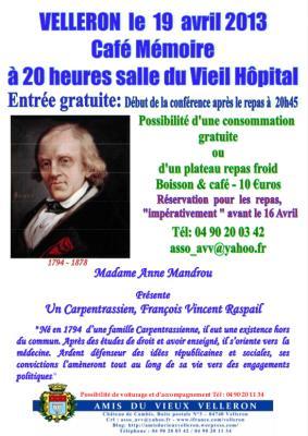 Affiche Café Mémoire Raspail