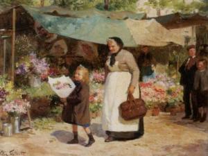Marché aux Fleurs par Gabriel