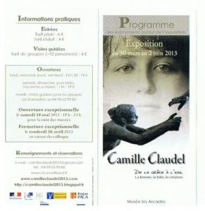 Programme expo Camille Claudel
