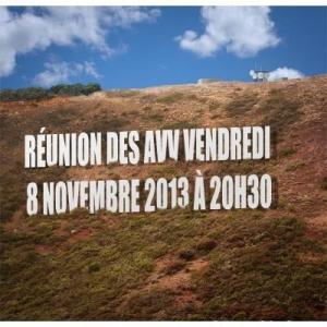 Réunion des AVV 8.11.2013