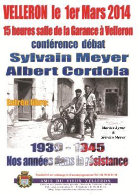 Conférence Résistance 1.03.2014