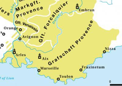 Carte Provence détails