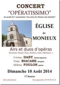 Concert Monieux 10.08.2014