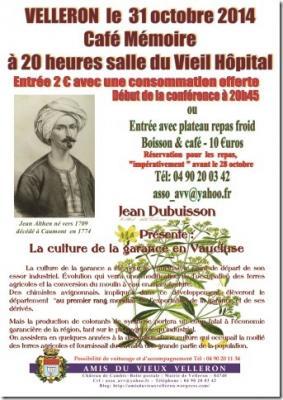 Affiche Café mémoire La Garance