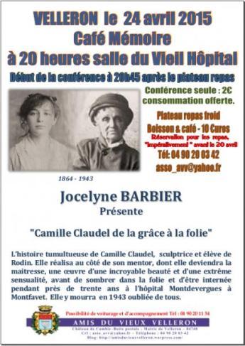 Affiche Café mémoire Camille Claudel