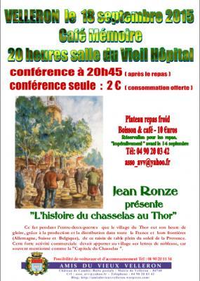 Affiche Café Mémoire Le chasselas